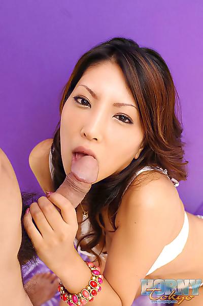 Fresh cumshot in mouth of..