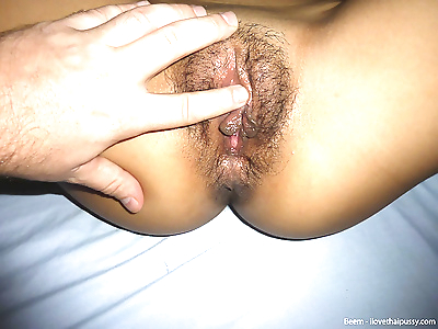 Thai hooker with a trimmed..