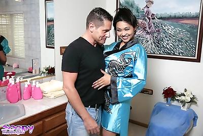 Hot Asian masseuse Mika Tan..