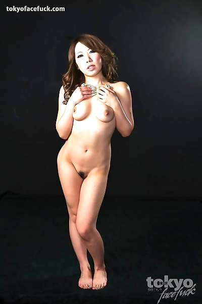 Hot Asian woman on her knees..