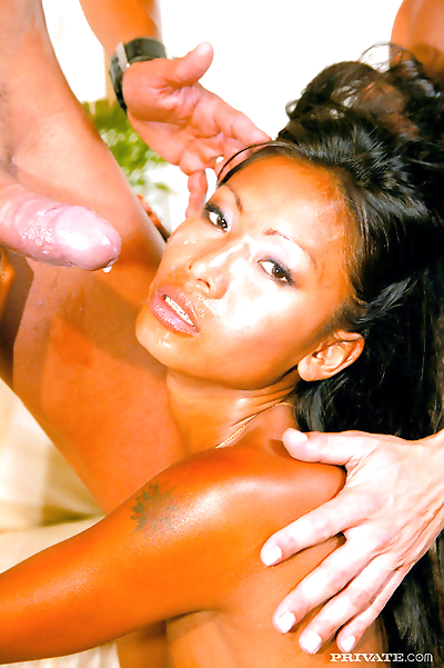 Petite Asian girl removes..