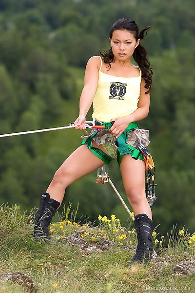 Hot Asian mountain climber..