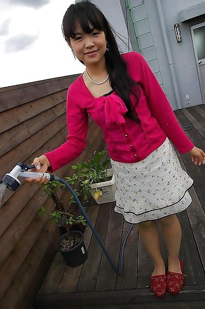 Asian teen Nao Kodaka..