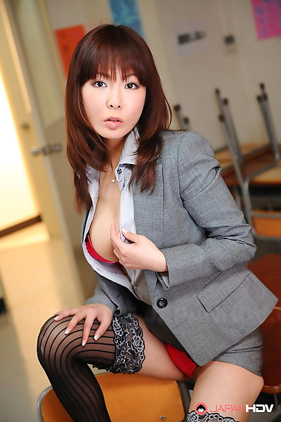 Busty Asian office lady..