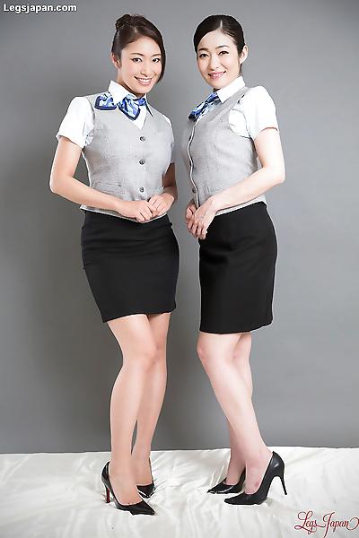 Hot japanese stewardess get..