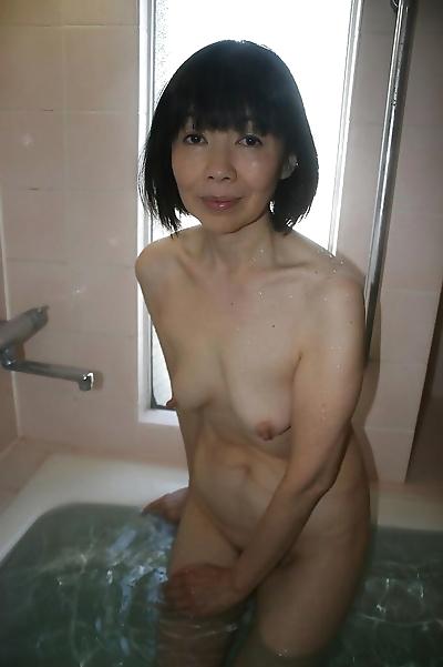 Close up posing in bathroom..