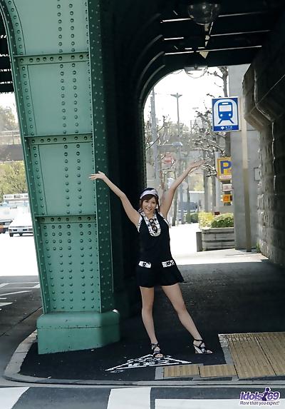 Hot Japanese teen Yuma Asami..