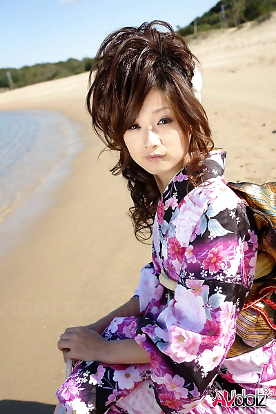 Asian model Chiaki strolls..