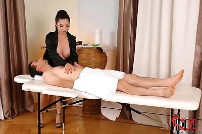 Asian masseuse Midori Tanaka..