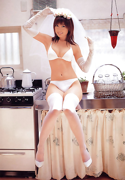 Two stacked gravure idol babes in white lingerie - part 4267