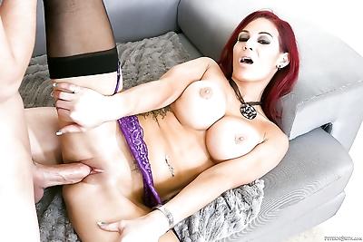 Hot redhead Ryder Skye licks balls & eats thick cum in reality seduction