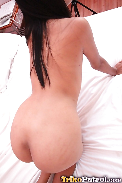 Cute amateur Akira showing her tiny titties and spreading to flash hairy muff