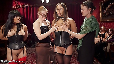 Abella danger and mia li is fucked during bdsm sex party by male dominant marco - part 2894